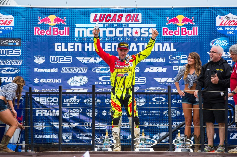 Honda On Top at Glen Helen With Tomac