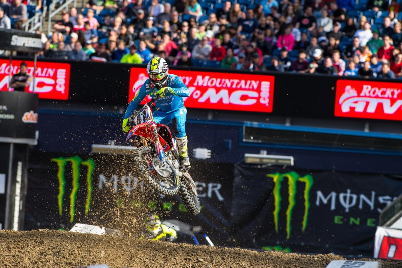 Canard Fifth at Foxborough Supercross, Seely Seventh