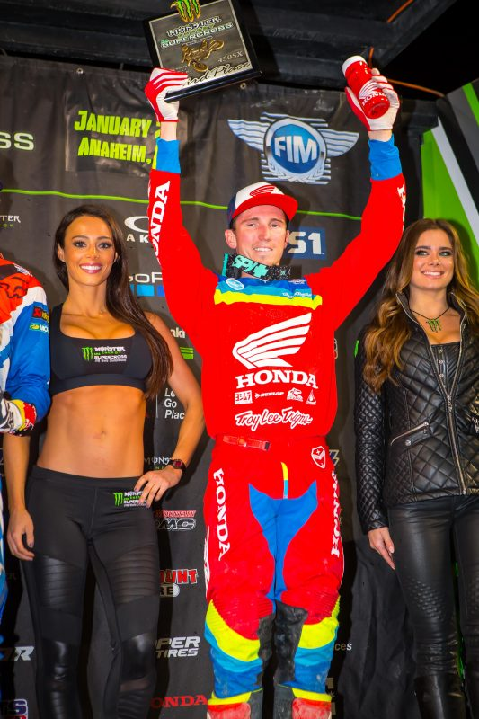 Podium Finish for Seely at Anaheim 2, Roczen Injured