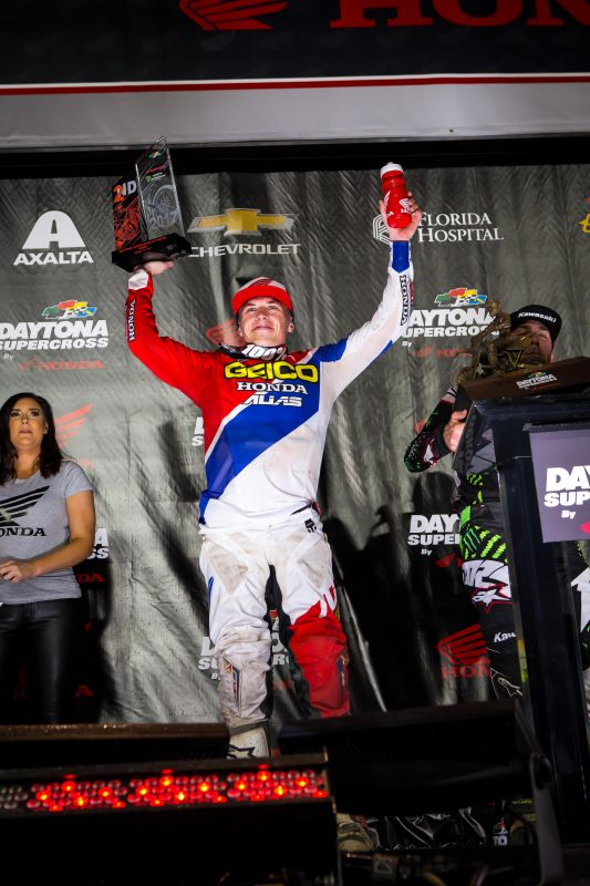 Martin Takes Home Second at the Daytona Supercross by Honda, Seely Fifth