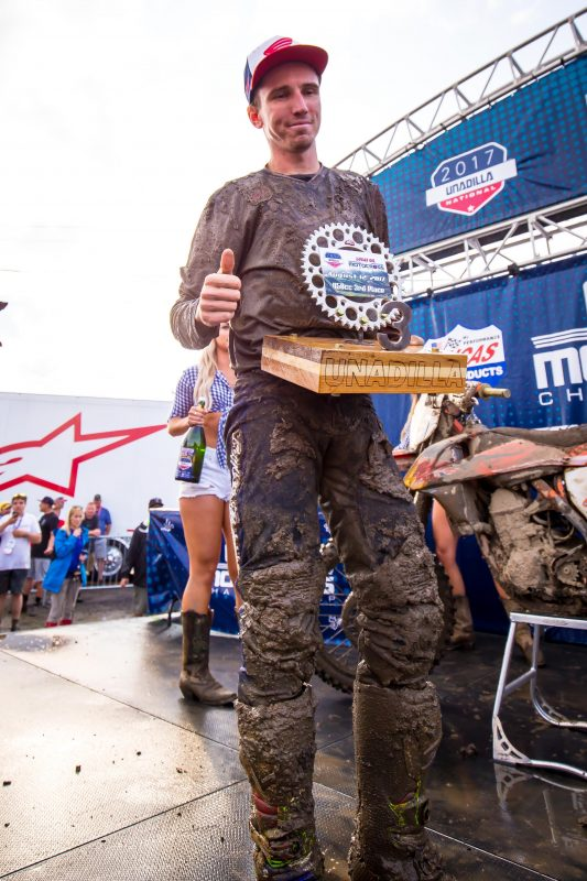 Career-First Podium Overall Result for Seely at Unadilla National