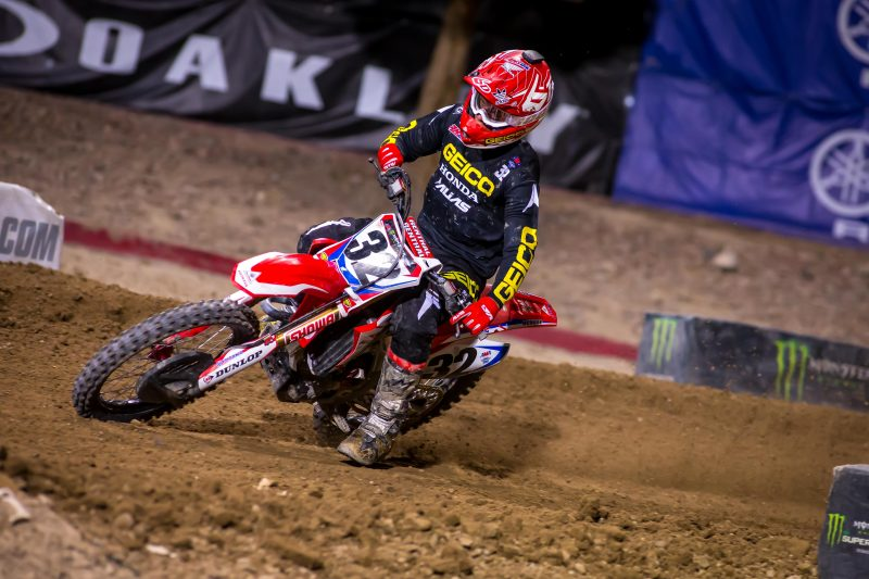 Craig Concludes AMA Supercross Season with Fourth-Place Finish in Las Vegas