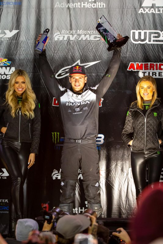 Roczen Battles to Second-Place Finish at 50th Daytona Supercross