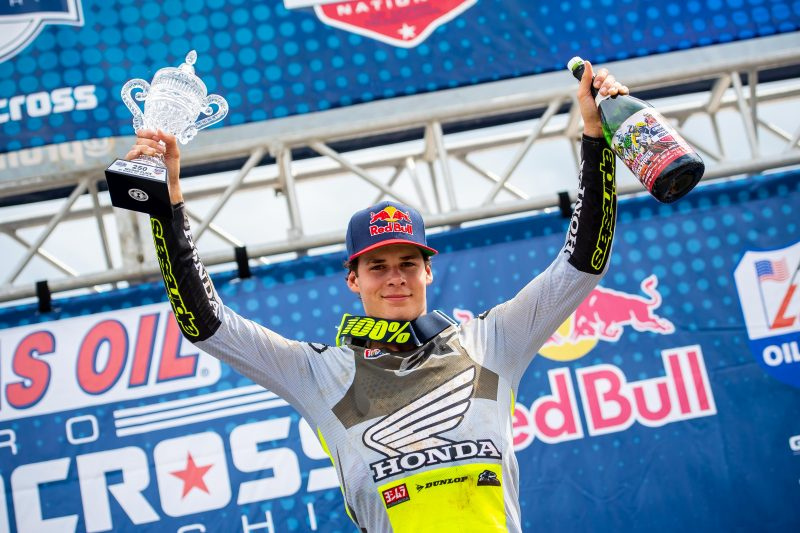 Podium Overall Finish for Jett Lawrence at High Point AMA Pro MX