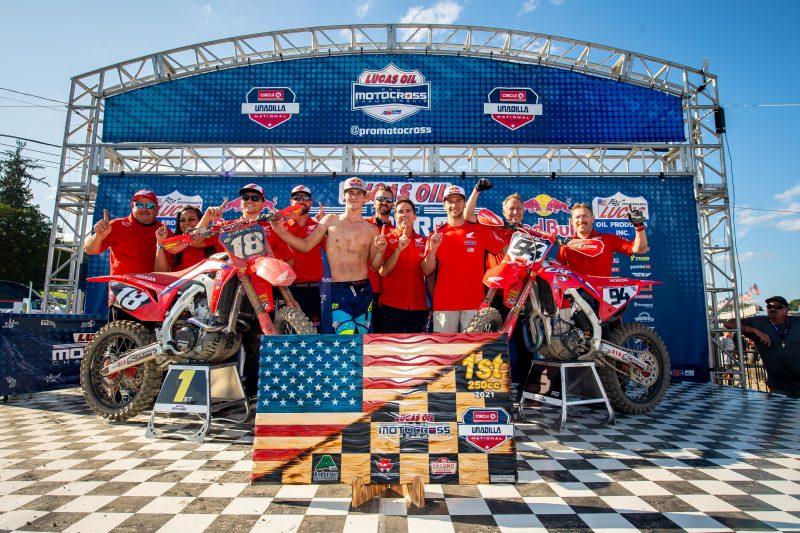 Team Honda HRC Dominates Unadilla MX, Winning Both Classes