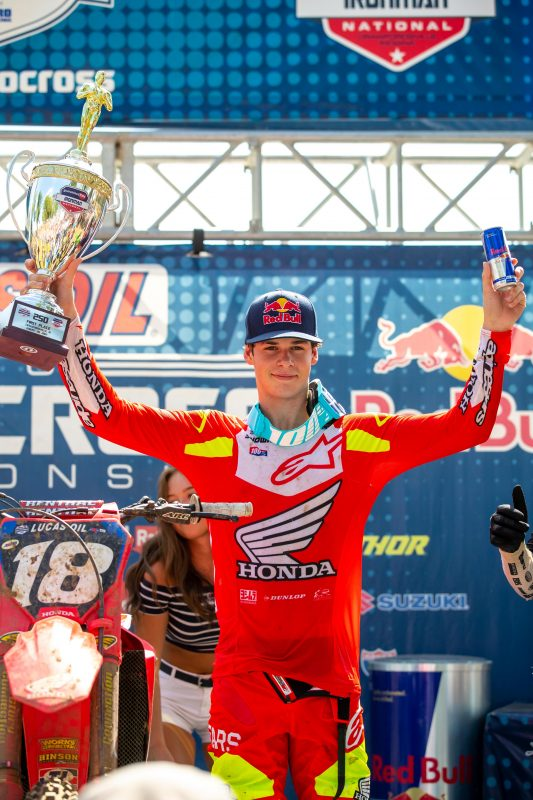 Jett Lawrence Dominates 250MX Class at Ironman, Reclaiming Points Lead